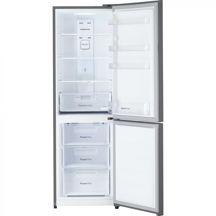 Combina frigorifica Daewoo RN-309GDPS, 305 l, Clasa A++, Full No Frost, Iluminare LED, H 187 cm, Gri metalizat [1]