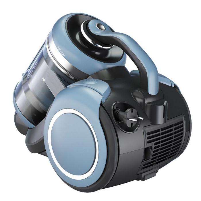 Aspirator fara sac Beko VCM71602AD, 800 W, 2.8 L, multi ciclonic, filtru Hepa, Bleu/Negru