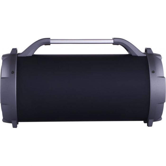 Boxa portabila cu trei difuzoare bazooka AKAI ABTS-13K cu BT , USB, Micro SD card , FM Radio , Aux-in 3.5mm ,Functie Karaoke ,Baterie reincarcabila, Lumini Led , Maner aluminiu 3