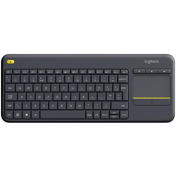 Tastatura Wireless Logitech K400 Plus Dark, Touchpad, USB, Black 0