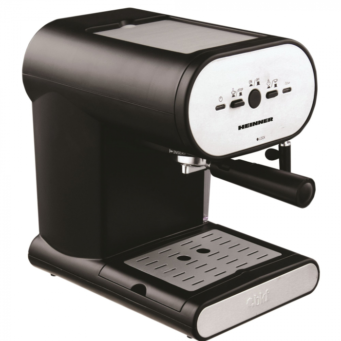 Espressor manual Heinner Soft Cream HEM-250, 1050W, 15 bar, 1l, Negru [0]