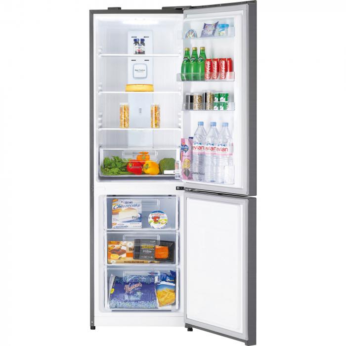 Combina frigorifica Daewoo RN-309GDPS, 305 l, Clasa A++, Full No Frost, Iluminare LED, H 187 cm, Gri metalizat [2]