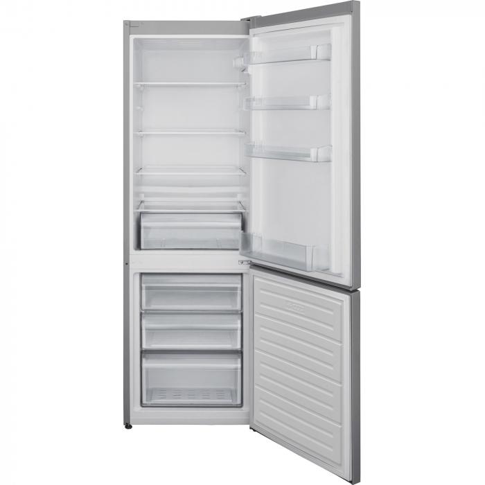 Combina frigorifica Heinner HC-V268SA+, 268 l, Clasa A+, Control mecanic, H 170 cm, Argintiu 1