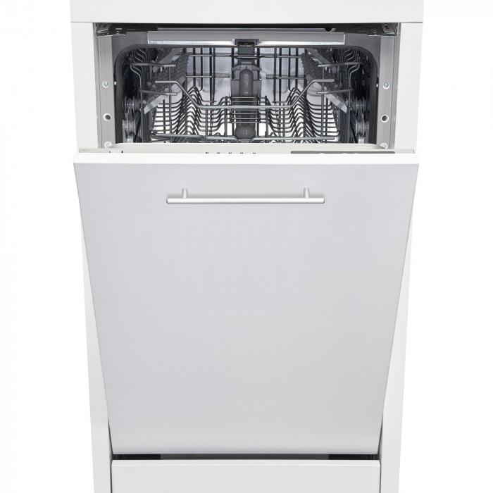 Masina de spalat vase incorporabila Heinner HDW-BI4505A++, 10 seturi, 5 programe, Clasa A++, Control electronic, Display LED, Aquastop, 45 cm 0