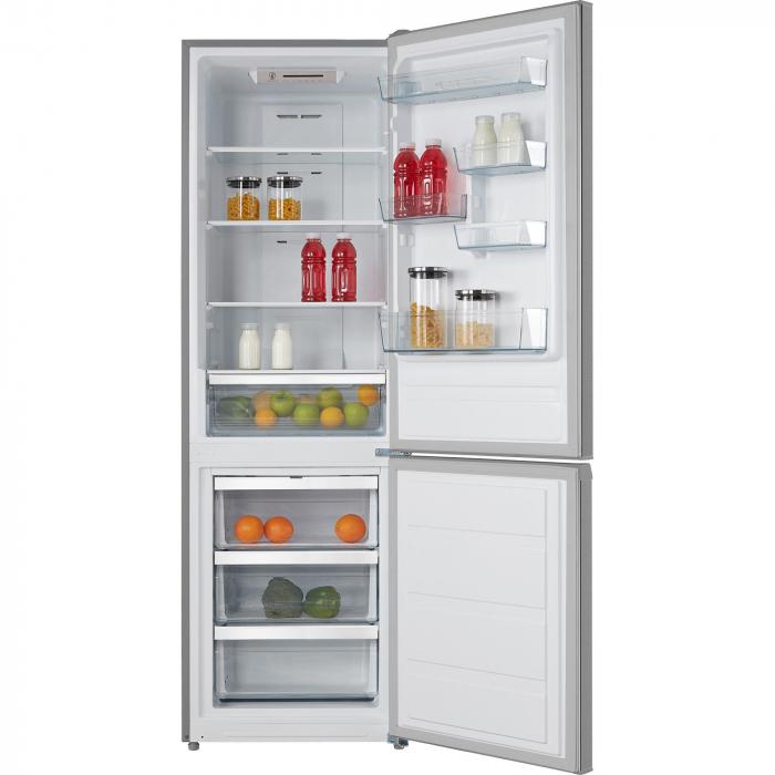 Combina frigorifica Heinner HCNF-M295XA+, 295 l, Clasa A+, Full No Frost, Display interior, Control electronic, H 188 cm, Inox 1