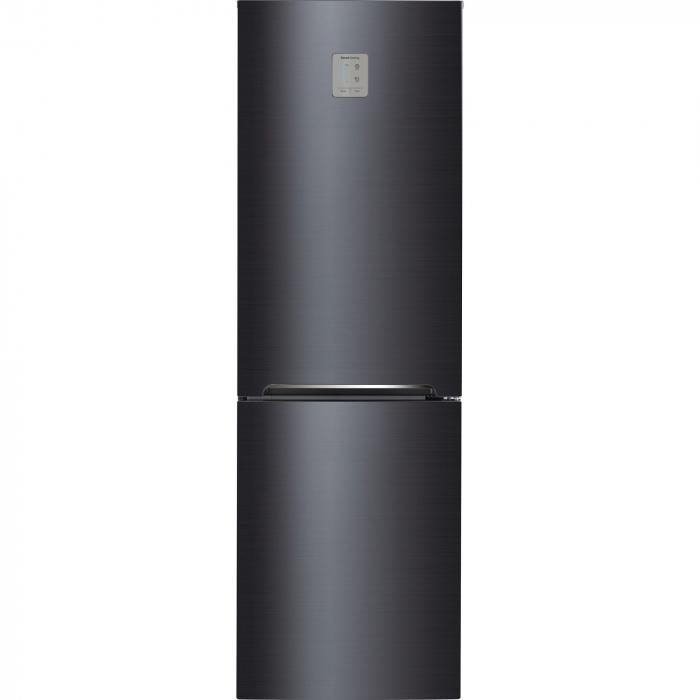 Combina frigorifica Daewoo RN-309GDPS, 305 l, Clasa A++, Full No Frost, Iluminare LED, H 187 cm, Gri metalizat [0]