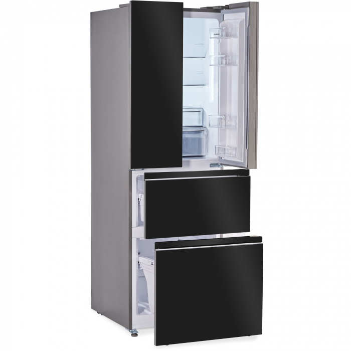Combina frigorifica French Door Heinner HCFD-H300GBKA+, 300 l, Full No Frost, A+, Display Touch, H 186 cm, Sticla neagra 3
