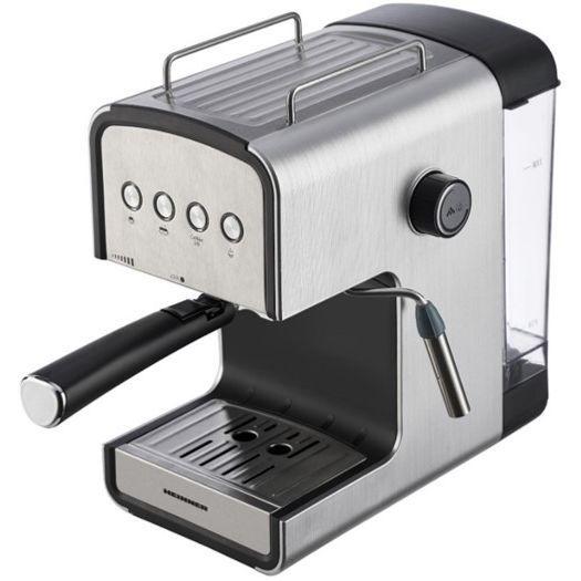 Espressor semi-automat Heinner HEM-B2012SA, 20 bar, 850W, rezervor apa detasabil 1.2l, optiuni presetate pentru espresso lung/scurt, filtru din inox, plita pentru mentinere cafea calda, decoratii inox 1