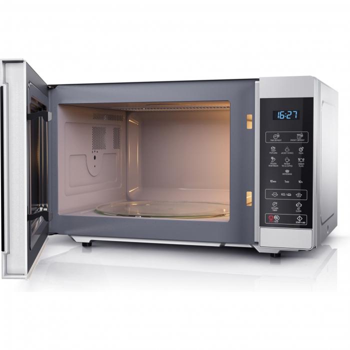 Cuptor cu microunde Sharp YCMS51ES, 25L, 900W, Gril 1000W, Digital, Argintiu 2