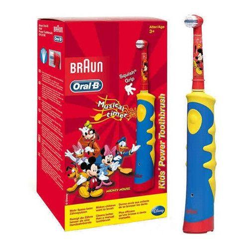 Periuta de dinti electrica Oral-B pentru copii D10.513K, 5600 oscilatii/min, rosu/albastru 2
