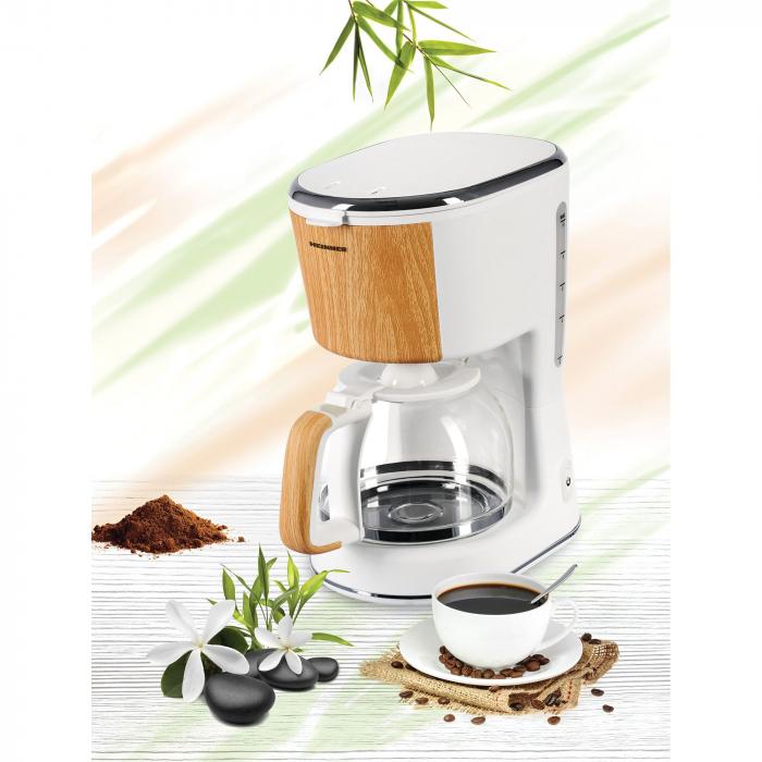 Cafetiera Heinner HCM-WH900BB, 900 W, 1.25 L, filtru detasabil, anti-picurare, oprire automata, Alb 4