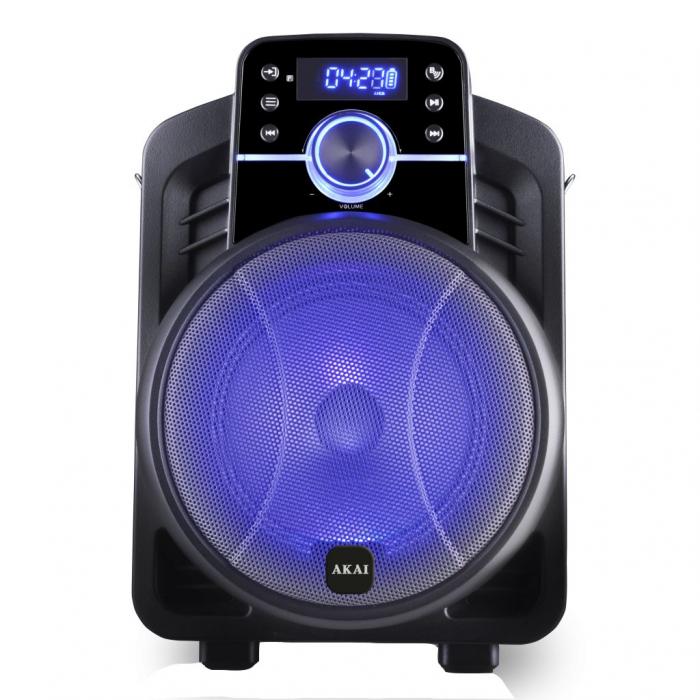 Boxa portabila Akai ABTS-I6 cu BT, lumini disco, app control, baterie 1800 mAH 0