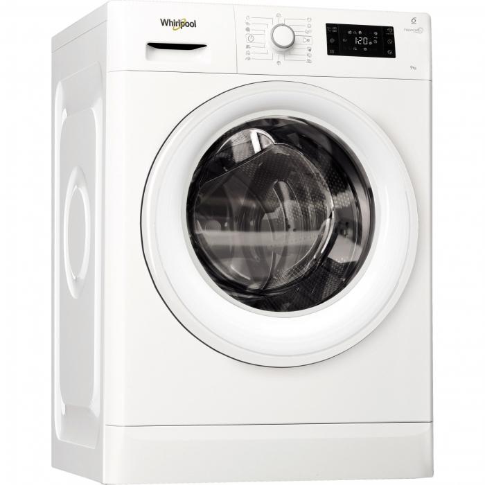 Masina de spalat rufe Whirlpool FreshCare+ FWG91484W EU, 6th Sense Colours, 9 kg, 1400 RPM, Clasa A+++, Alb 0