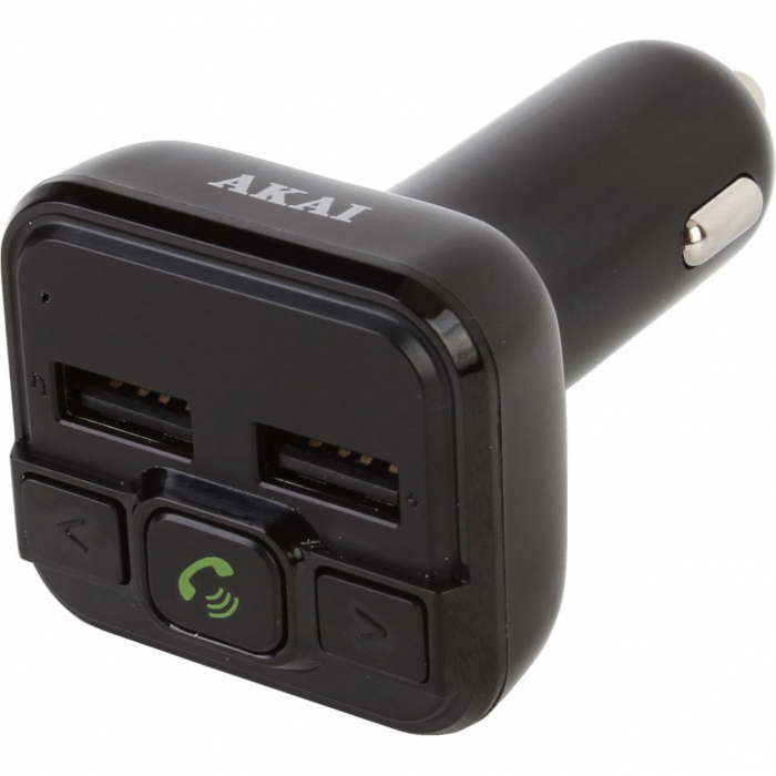 Modulator FM Akai FMT-20BT, Bluetooth, USB, functie incarcator telefon, Micro SD Card reader, microfon incorporat, egalizator 0