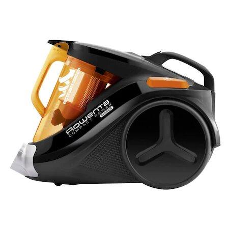 Aspirator fara sac Rowenta Compact Power 3A RO3753, 1.5 l, 750 W, Filtru de inalta eficienta, 8.8 m, Negru/Orange 2