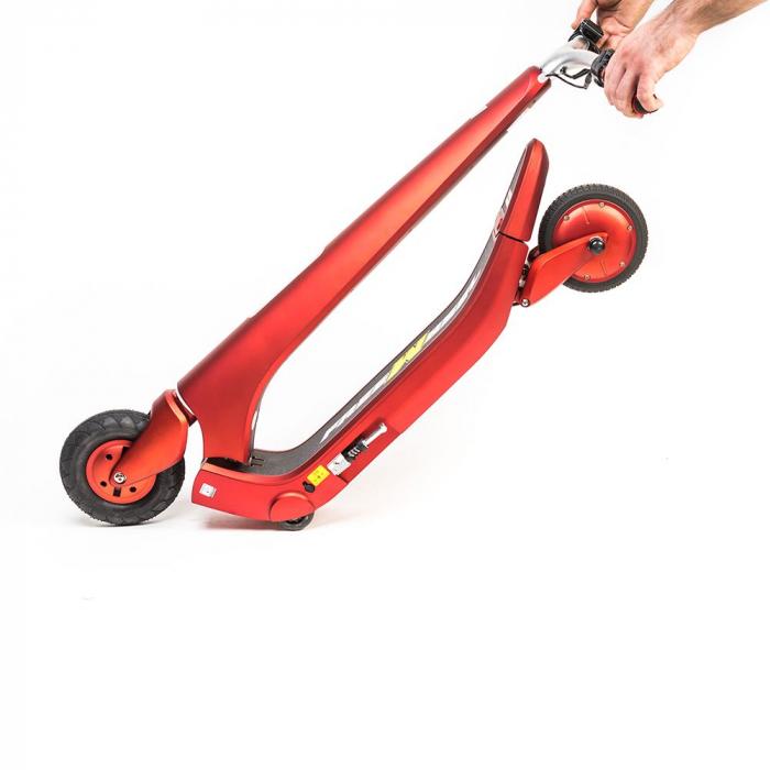 Trotineta electrica Freewheel Rider Trends Rosu, Roata fata 8 inch, Autonomie 30KM, Baterie LG, Viteza 25 KM/h, Motor 250W Brushless, Conctare Bluetooth, Difuzor 3W, Afisaj Electronic, Greutate maxima 5