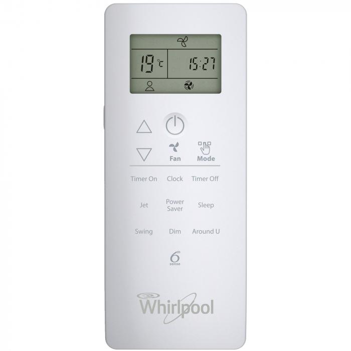 Aparat de aer conditionat Whirlpool SPIW 422, 24000 BTU, Clasa A++, Functie incalzire, Al 6-lea Simt, Display, Filtru HD + HEPA, Auto Restart, Dezumidificare 2