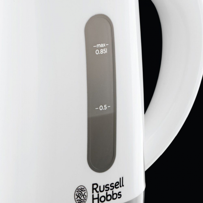 Fierbator compact de voiaj Russell Hobbs Travel 23840-70, 1000 W, 0.85 l, 2 cesti, 2 lingurite, Alb/Gri 3