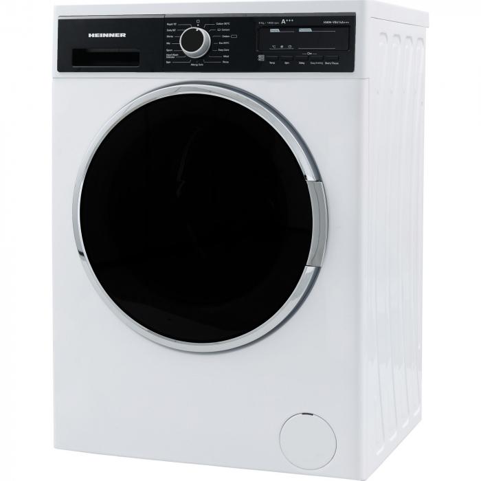 Masina de spalat Heinner HWM-V8414A+++, 8KG, 1400 RPM, Display, Allergy Safe, Clasa A+++, Alb 2
