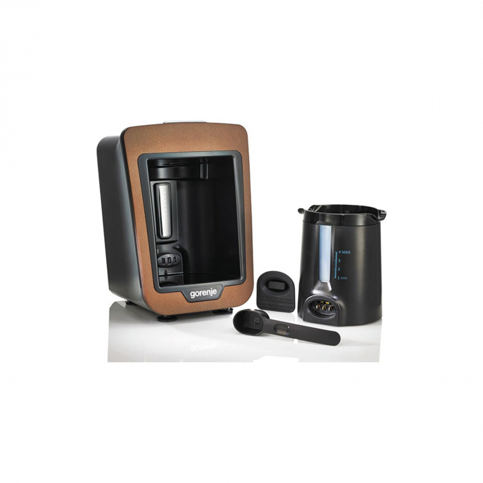 Aparat pentru preparat cafea turceasca Gorenje ATCM730T, 730W, 270 ml, Negru/Maro 3