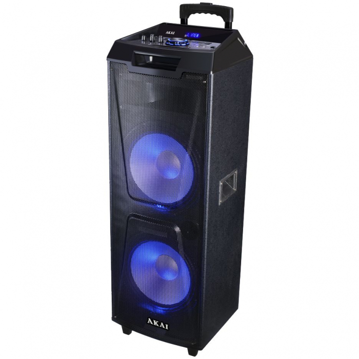 Boxa portabila Akai ABTS-AW122 cu BT, lumini disco, functie inregistrare, microfon 1