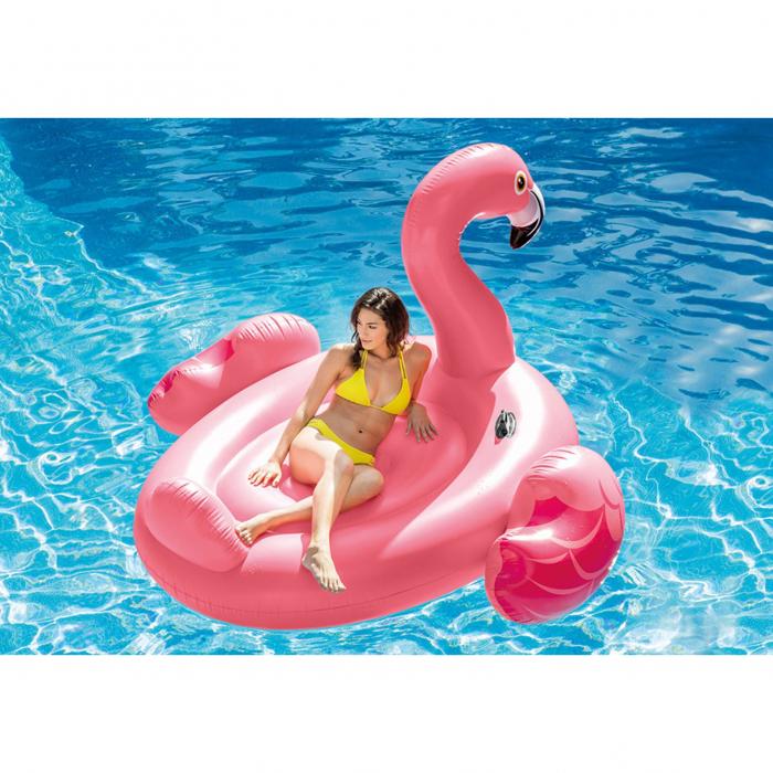 Saltea gonflabila Intex Flamingo Pink, 2.18m x 2.11m 0
