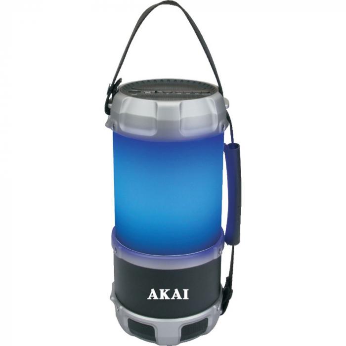 Boxa portabila felinar AKAI ABTS-S38, cu Bluetooth, USB, FM radio, 16W 0