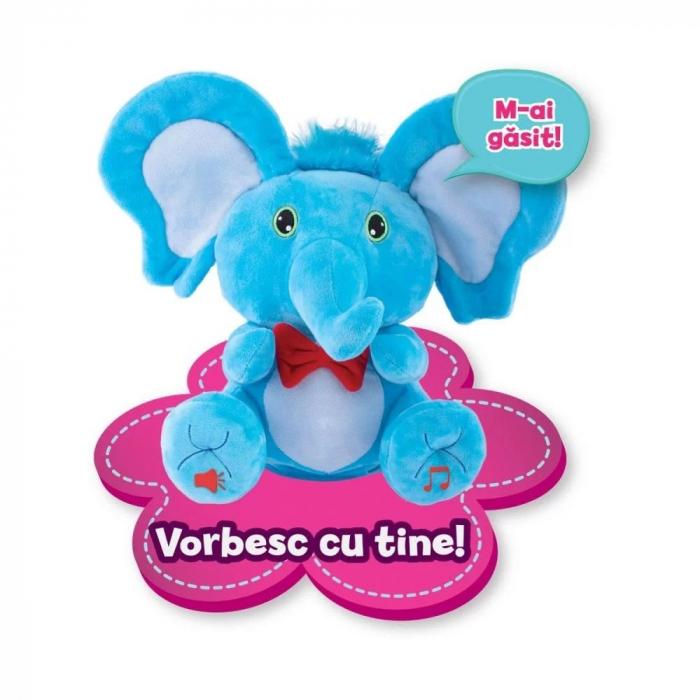 Jucarie de plus Noriel Elefant Cucu Bau - Tino Boo Elefantel 6