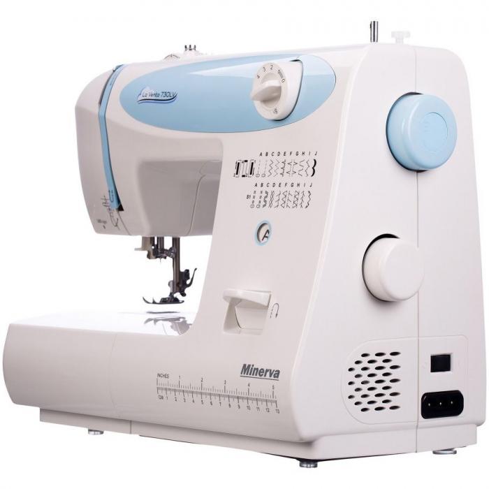 Masina de cusut electromecanica Minerva LV730, 20 programe, 850 imp/min, 70W, Alb/Bleu 4
