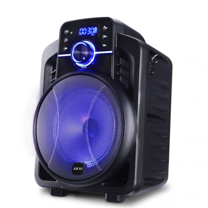 Boxa portabila Akai ABTS-I6 cu BT, lumini disco, app control, baterie 1800 mAH 1