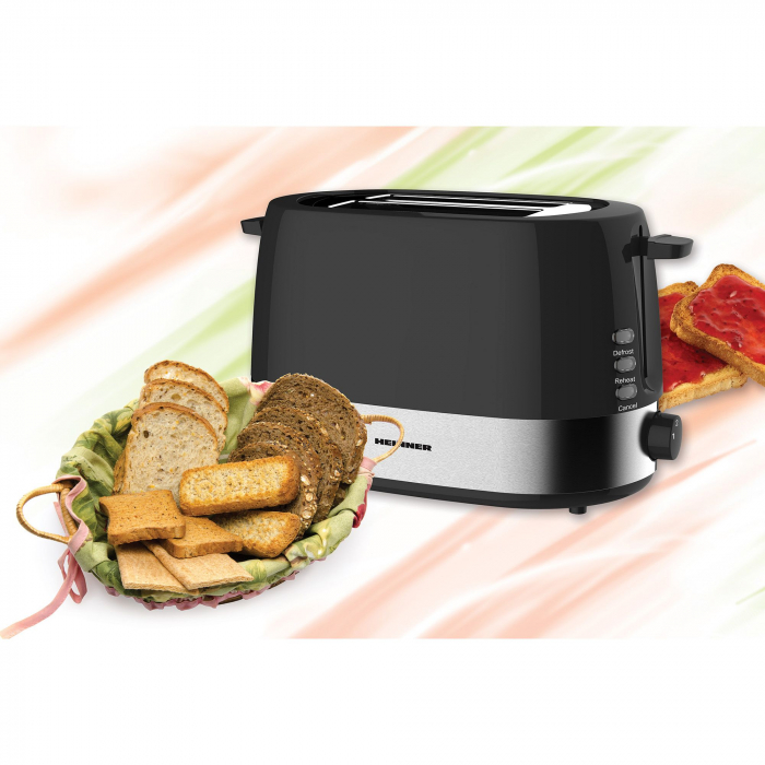 Prajitor de paine Heinner HTP-850BK, 850W, 7 nivele de rumenire, Negru 1