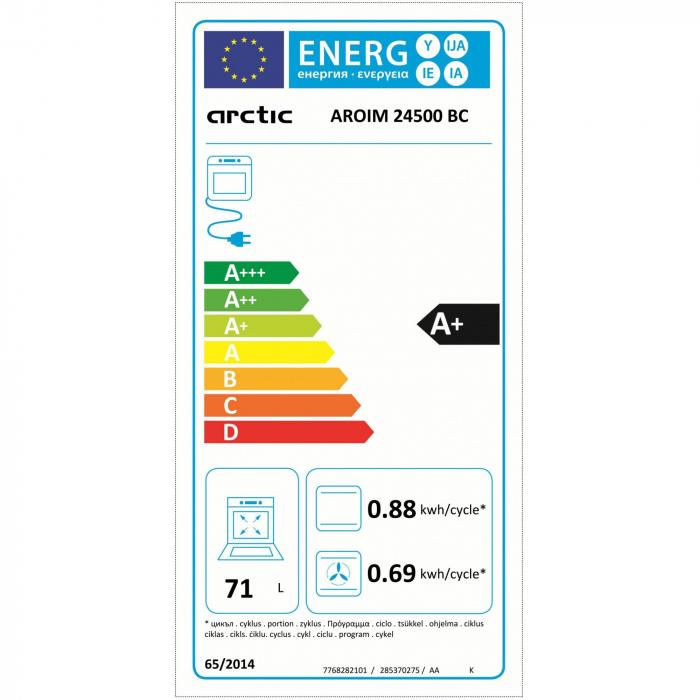 Cuptor incorporabil Arctic AROIM24500BC, Electric, Autocuratare catalitica, 71 l, Clasa A+, Negru 6