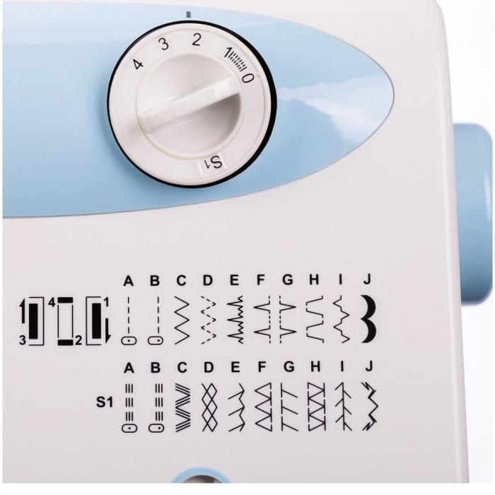 Masina de cusut electromecanica Minerva LV730, 20 programe, 850 imp/min, 70W, Alb/Bleu 7