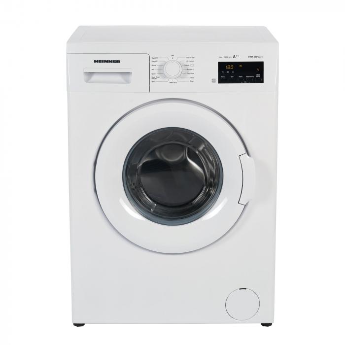 Masina de spalat rufe Heinner HWM–V7012A++, 7KG, 1200 RPM, Clasa A++, Ecran digital, Functie start intarziat, Sistem Eco Logic, Program Allergy Safe, 60 cm, Alb [1]