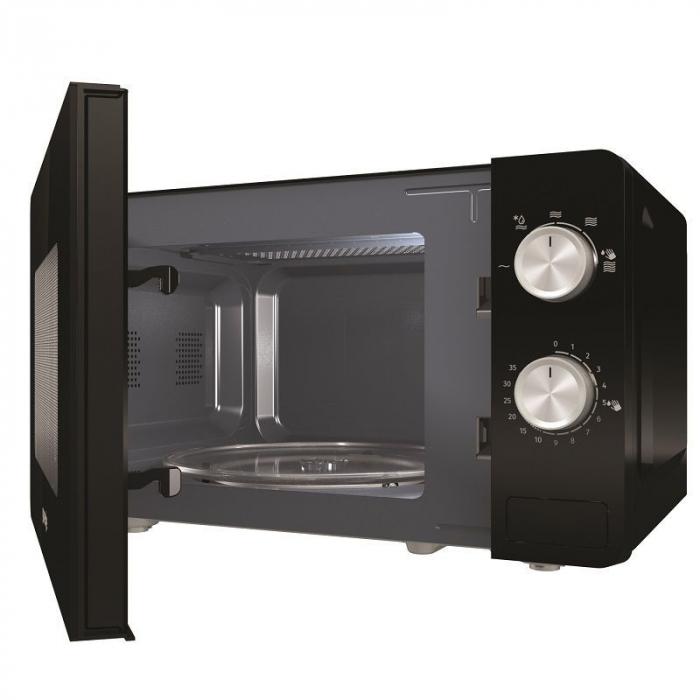 Cuptor cu microunde Gorenje MO20E1B 1.280 W, Comenzi mecanice, Decongelare rapida, Negru 2