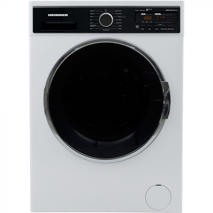 Masina de spalat Heinner HWM-V8414A+++, 8KG, 1400 RPM, Display, Allergy Safe, Clasa A+++, Alb 0