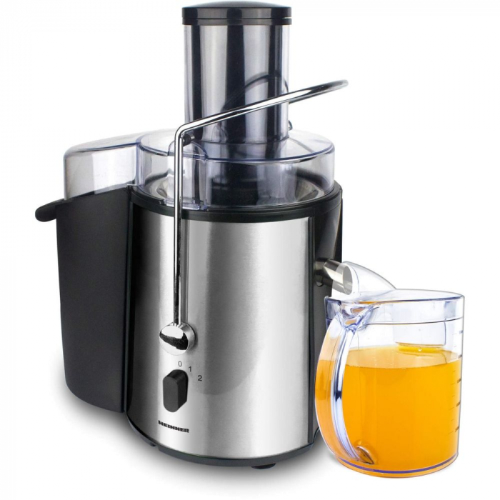 Storcator de fructe si legume Heinner XF-1000SS, 1000 W, Recipient suc 1 l, Recipient pulpa 2 l, 2 Viteze, Tub de alimentare 75 mm, Inox 2