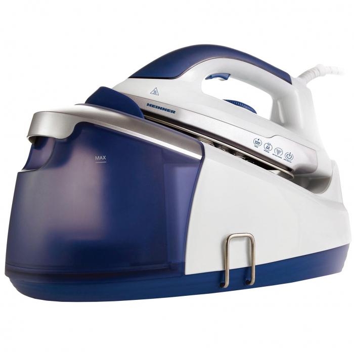 Statie de calcat Heinner HIS-D2403BL, 2400 W, 3.5 bar, 1.2 L, 100g/min, temperatura ajustabila, Alb/Albastru 0