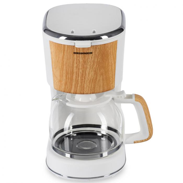 Cafetiera Heinner HCM-WH900BB, 900 W, 1.25 L, filtru detasabil, anti-picurare, oprire automata, Alb 0
