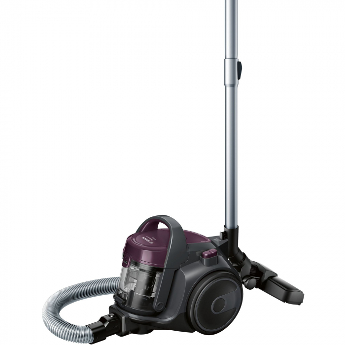 Aspirator fara sac Bosch 3A BGC05AAA1, 700W, 1.5 l, Filtru igienic PureAir, Easy Clean, Negru/Mov [4]
