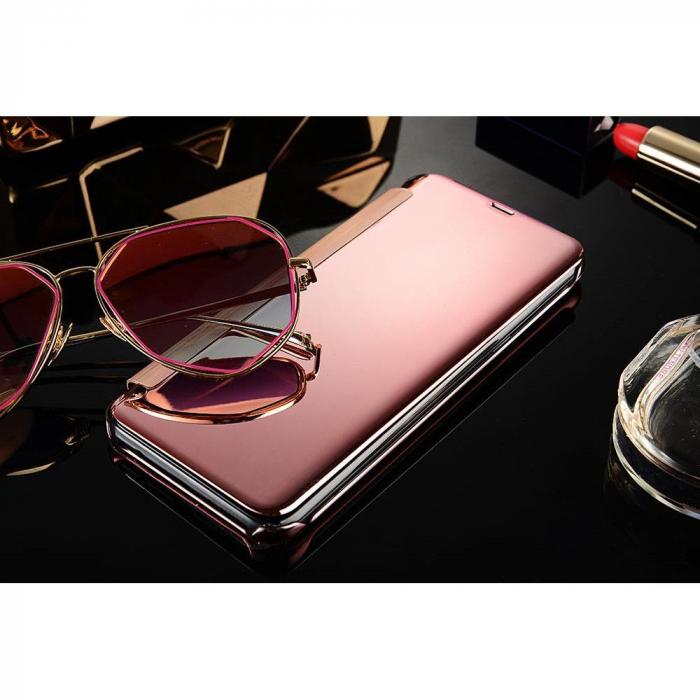 Husa Protectie Pentru Samsung Galaxy S9. Clear View Standing. Rose Gold 1