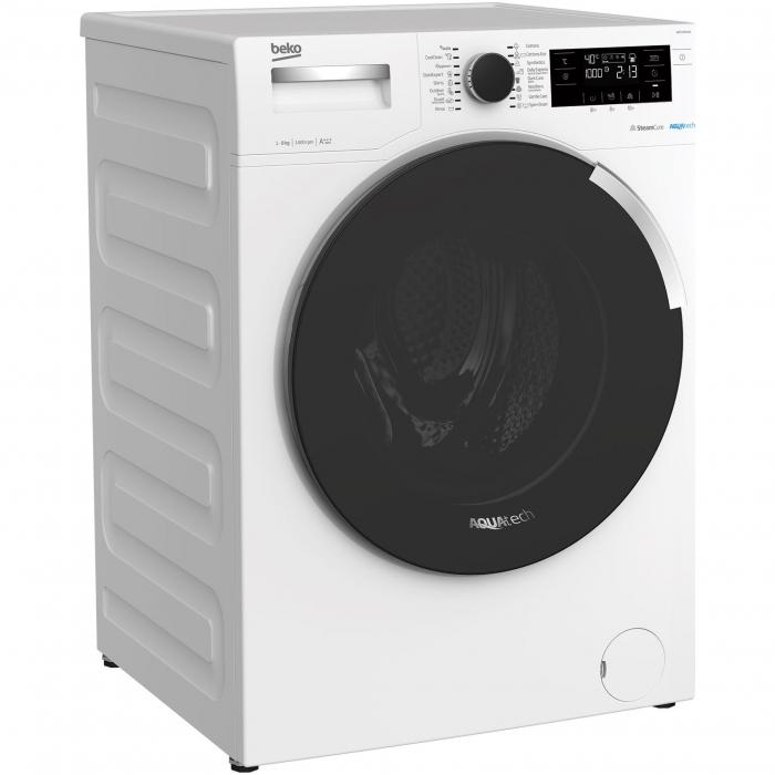 Masina de spalat rufe Beko WTE9744N, 9 kg, 1400 RPM, Clasa A+++, AquaTech SteamCure , ADDGarment, Motor ProSmart Inverter, Alb [1]
