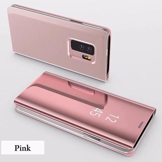 Husa Protectie Pentru Samsung Galaxy S9. Clear View Standing. Rose Gold 2
