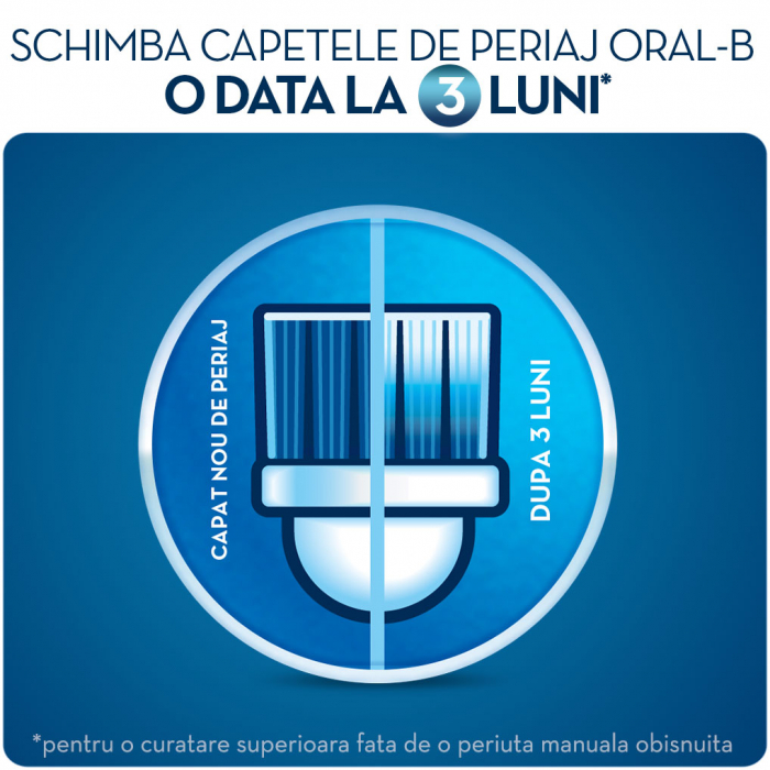 Rezerva periuta de dinti electrica pentru copii Oral-B Frozen EB10-2, 2 buc 5