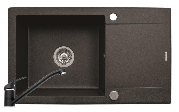 Set chiuveta granit MIDO PLUS & baterie ASALIA - Black [0]