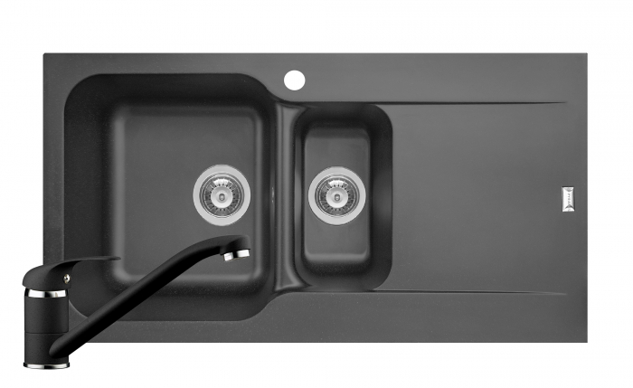 Set chiuveta soft compozit Pyramis Level ARTITHEK 1 1/2B 1D ST + Baterie [0]