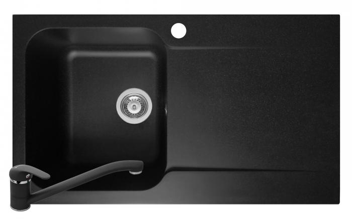 Set chiuveta soft compozit Pyramis Level ARTITHEK 1B 1D ST Negru + Baterie [0]