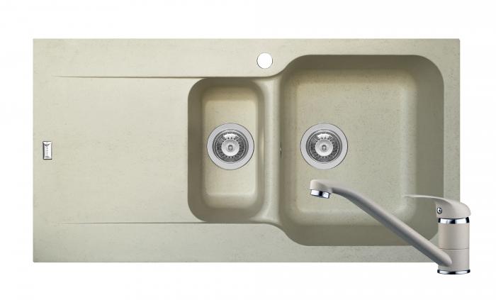 Set chiuveta soft compozit Pyramis Level DUROTHEK 1 1/2B 1D DR + Baterie [0]
