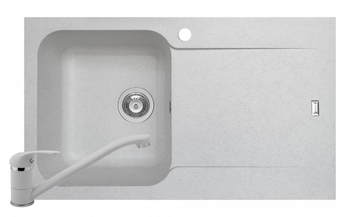 Set chiuveta soft compozit Pyramis Level DUROTHEK 1B 1D ST ALB + Baterie [0]