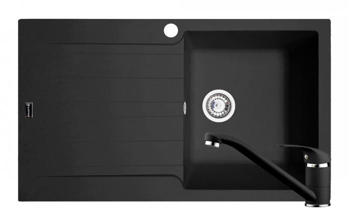 Set chiuveta soft compozit Pyramis SIERRA ARTITHEK 1B 1D DR + Baterie Negru [0]